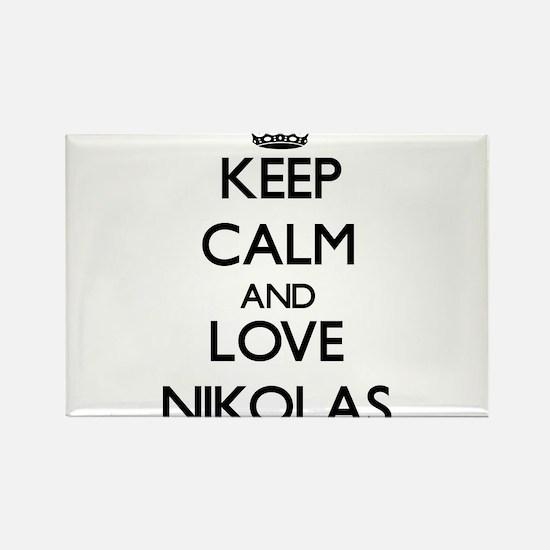 Keep Calm and Love Nikolas Magnets