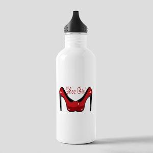 Shoe Girl Water Bottle
