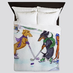 hockeyblanket Queen Duvet