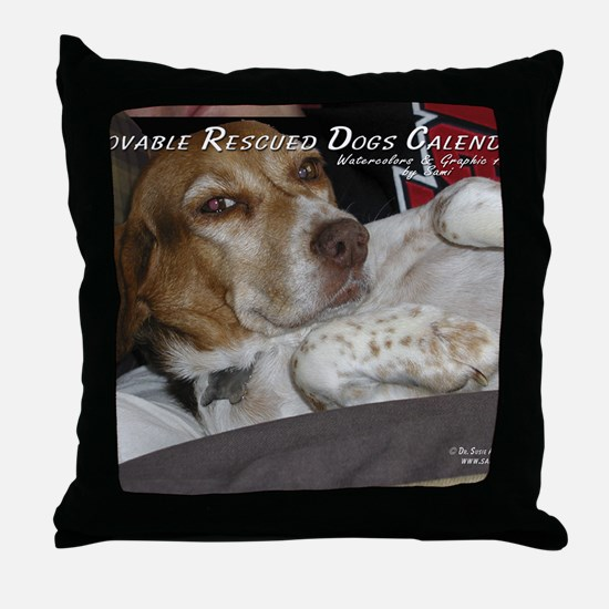 loveable rescue Throw Pillow