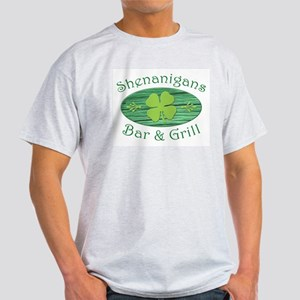 Shenanigans Bar & Grill Ash Grey T-Shirt