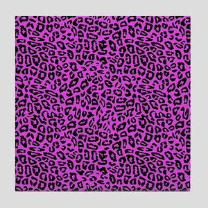 Pink Cheetah Print Tile Coaster