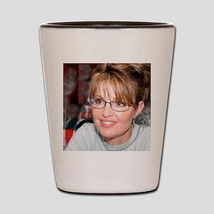 Sarah Palin in Kuwait tshirt Shot Glass