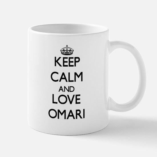 Keep Calm and Love Omari Mugs