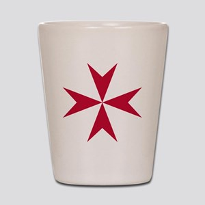 Cross of Malta - Red Shot Glass