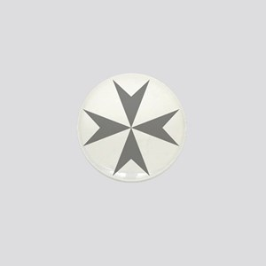 Cross of Malta - Grey Mini Button