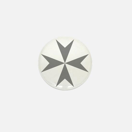 Cross of Malta - Grey Mini Button