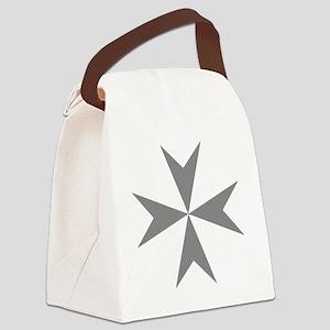 Cross of Malta - Grey Canvas Lunch Bag