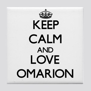 Keep Calm and Love Omarion Tile Coaster