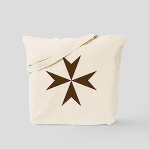 Cross of Malta - Brown Tote Bag