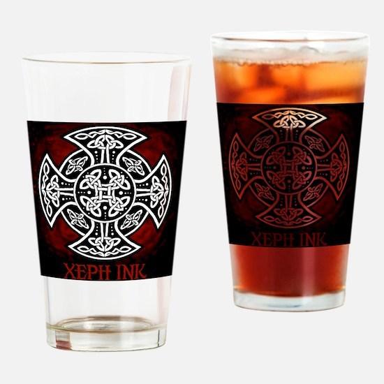 red sheild shirt Drinking Glass