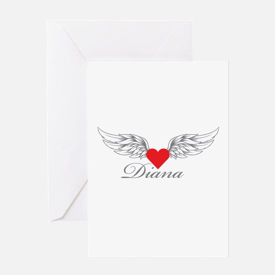 Angel Wings Diana Greeting Cards