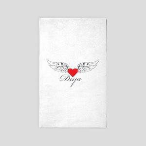 Angel Wings Diya 3'x5' Area Rug