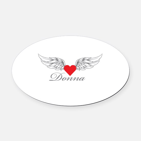 Angel Wings Donna Oval Car Magnet