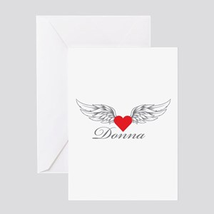 Angel Wings Donna Greeting Cards