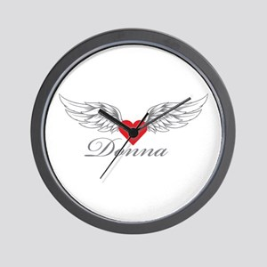 Angel Wings Donna Wall Clock