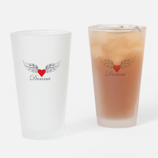 Angel Wings Donna Drinking Glass
