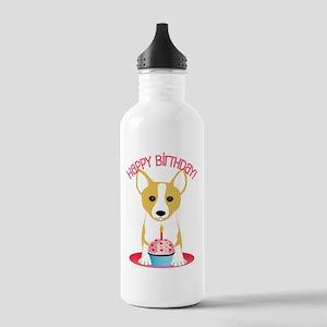 Happy Birthday Corgi Water Bottle