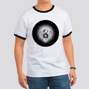 8-ball dragon Large round button Ringer T