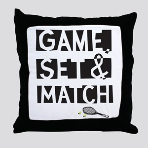 game_set_match2 Throw Pillow
