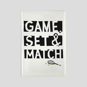 game_set_match2 Rectangle Magnet