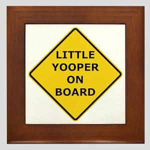 2000px-Little_Yooper_On_Board_Sign Framed Tile