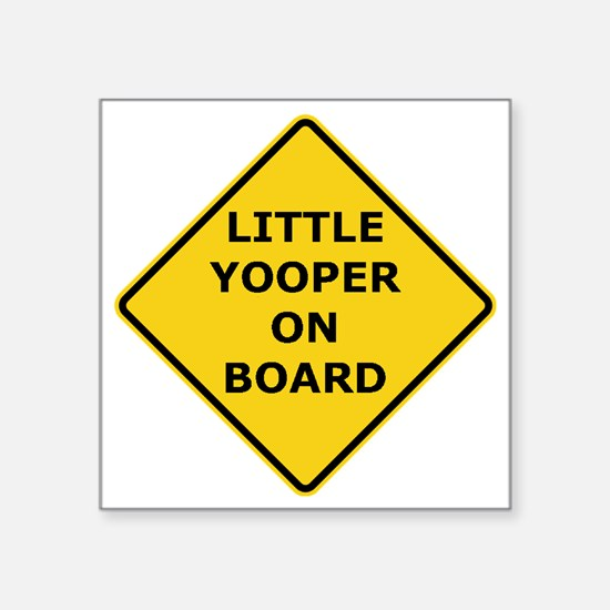 """2000px-Little_Yooper_On_Boa Square Sticker 3"""" x 3"""""""