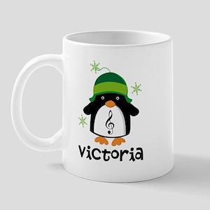 Personalized Christmas Penguin Mugs