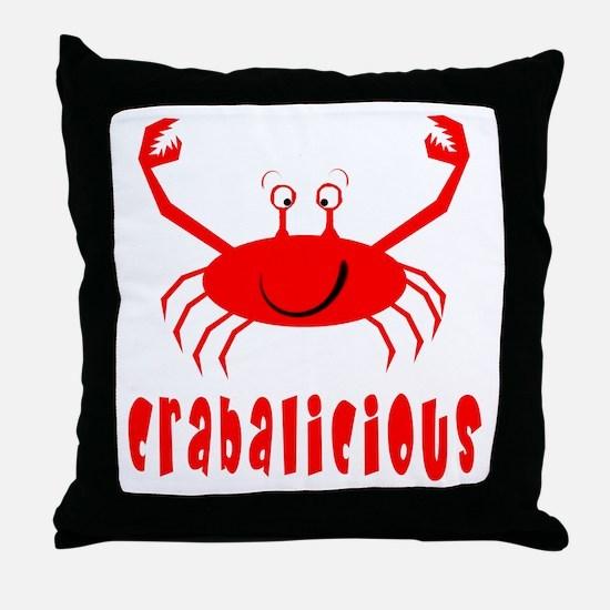 Crabalicious Throw Pillow
