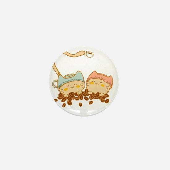 coffee cat2 Mini Button