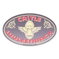 Castle Wulfenbach Travel Oval Decal