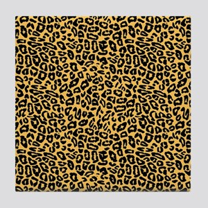 Orange Cheetah Print Tile Coaster