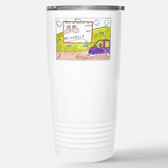 4-Melancola 10x10 Stainless Steel Travel Mug