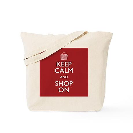 Keep Calm Shop On Tote Bag