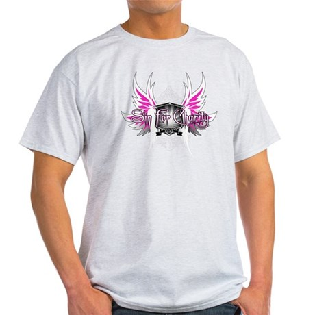 PinkonBlack-CAFEPRESS Light T-Shirt