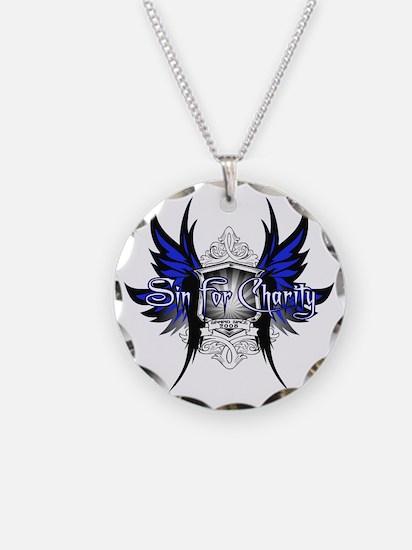 BlueonWhite-CAFEPRESS Necklace