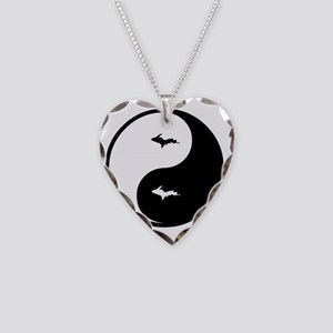 U.P._Ying_Yang Necklace Heart Charm