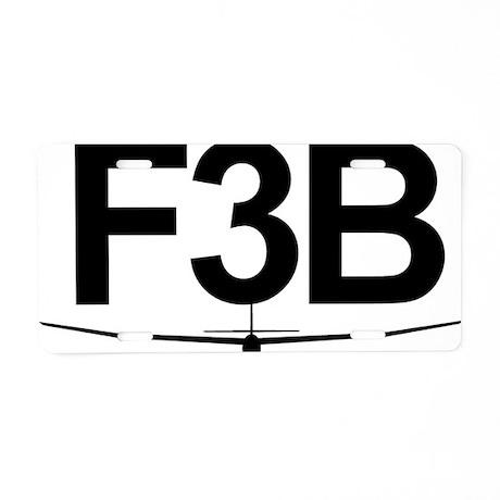F3B Aluminum License Plate
