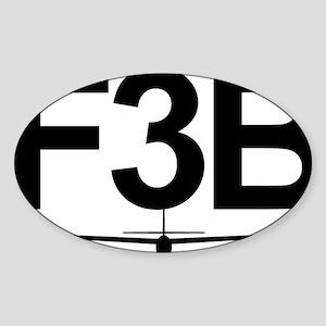 F3B Sticker (Oval)