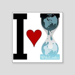 """i heart wikileaks Square Sticker 3"""" x 3"""""""