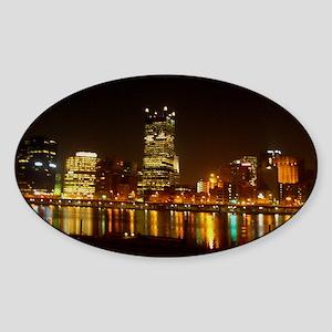 2010PghLightUp409_MED Sticker (Oval)