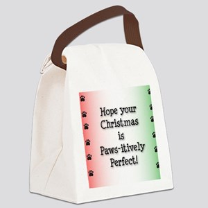 pawsitivelyChristmasCard-01 Canvas Lunch Bag