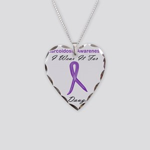 Daughter Necklace Heart Charm