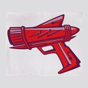 ray_gun_red Throw Blanket
