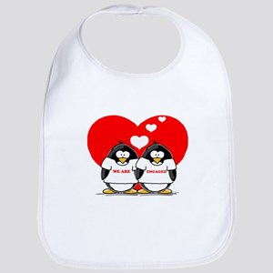 We Are Engaged Penguins Bib