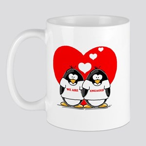 We Are Engaged Penguins Mug