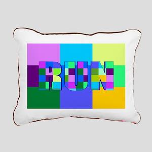 Run Squares Rectangular Canvas Pillow