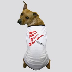 Ukulele Player From Outer Space Dog T-Shirt