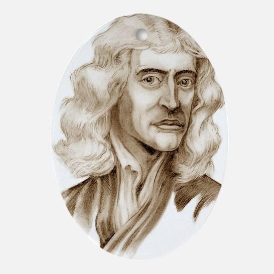Newton - Greeting Oval Ornament