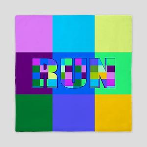 Run Squares Queen Duvet